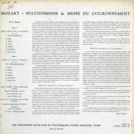 FR EMI FALP764 カール・フォルスター モーツァルト・メサ