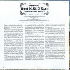 US RCA GL1-1332 フリッツ・ライナー グラナドス・ゴイ…
