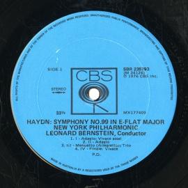 US CBS SBR235793 レナード・バーンスタイン ハイドン…