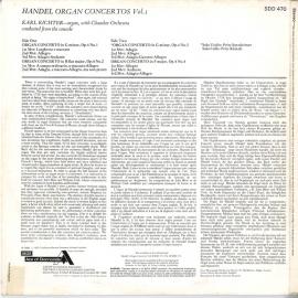 GB DEC SDD470 カール・リヒター ヘンデル・オルガン協奏曲