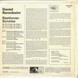 GB EMI HQS1152 ダニエル・バレンボイム ベートーヴェン…