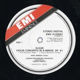 GB EMI EMX41 2058 1 ナイジェル・ケネディ エルガ…
