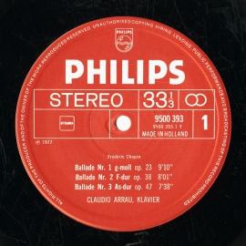 NL PHIL 6500 393 クラウディオ・アラウ ショパン・幻…