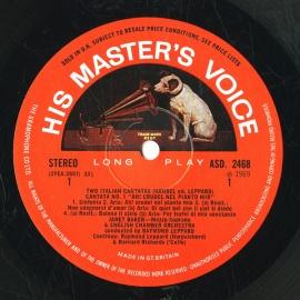 GB EMI ASD2468 ジャネット・ベイカー ヘンデル・カンタ…