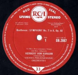 GB  RCA  SB2087 カラヤン  ベートーヴェン・交響曲7番