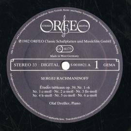 DE ORFEO S010821A オラフ・ドレスラー ラフマニノフ…