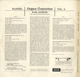 GB  DEC  SXL2201 リヒター  ヘンデル・オルガン協奏曲