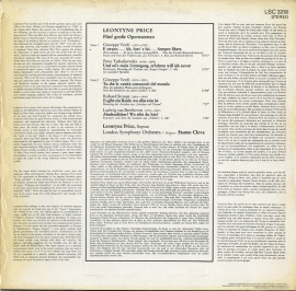 DE RCA LSC3218 レオンティーン・プライス オペラ歌曲集