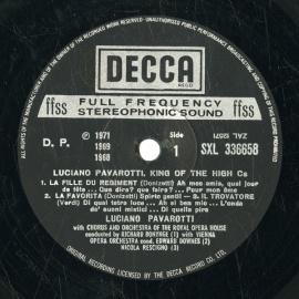 GB DEC SXL336658 ルチアーノ・パヴァロッティ 歌曲集
