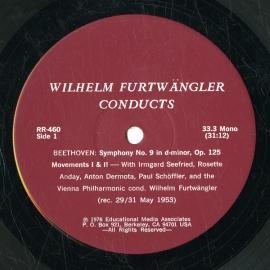 US RR RR460 ヴィルヘルム・フルトヴェングラー ベートーヴ…