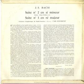 FR CHS M2231 カール・シューリヒト バッハ・管弦楽組曲 …