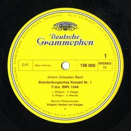 DE DGG 139 005 ヘルベルト・フォン・カラヤン バッハ・…