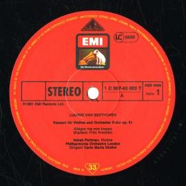 DE  EMI  ASD4059 カルロ・マリア・ジュリーニ ベート…