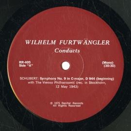 US RR RR405 ヴィルヘルム・フルトヴェングラー シューベル…