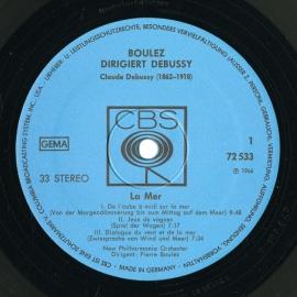 FR CBS S72533 ピエール・ブーレーズ ドビュッシー・海