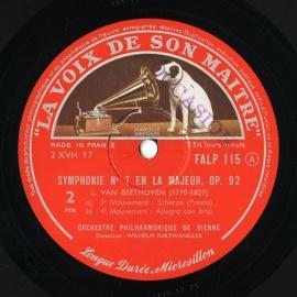 FR EMI FALP115 ヴィルヘルム・フルトヴェングラー ベー…