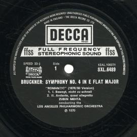 GB DEC SXL6489 ズービン・メータ ブルックナー・交響曲…