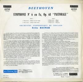 FR RCA 645 014 フリッツ・ライナー ベートーヴェン・交…