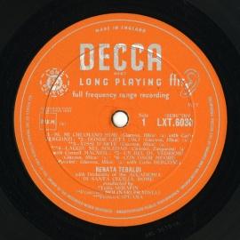 GB DEC  LXT6030 レナータ・テバルディ 歌曲集