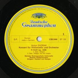 DE DGG  139 044 カラヤン&ロストロポーヴィチ…
