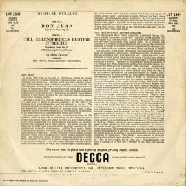 GB DEC  LXT2549 クレメンス・クラウス R.シュトラウ…