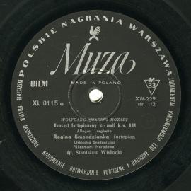 PL MUZA  XL0115 レギナ・スメンジャンカ モーツァルト…