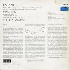 DE DEC SXL6386 アバド&キング ブラームス・リ…