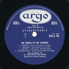 GB argo SPA-A101 ネヴィル・マリナー THE WOR…