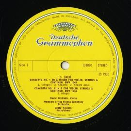 GB DGG 138 820 オイストラフ親子 バッハ・ヴァイオリン…