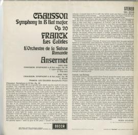 GB  DEC  SXL6310 アンセルメ ショーソン・交響曲