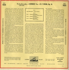 GB  EMI ALP1025 フルトヴェングラー チャイコフスキー…