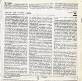 US COL MS6426 ブルーノ・ワルター マーラー・大地の歌