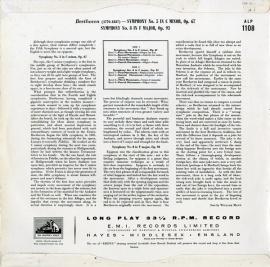 GB EMI ALP1108 アルトゥーロ・トスカニーニ べートーヴ…