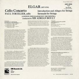 GB EMI ASD2906 トルトゥリエ エルガー・チェロ協奏曲