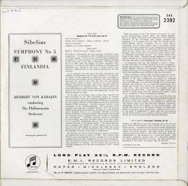 GB COL SAX2392 ヘルベルト・フォン・カラヤン シベリウ…