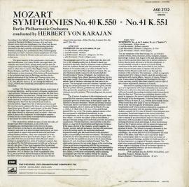 GB EMI ASD2732 ヘルベルト・フォン・カラヤン モーツァ…