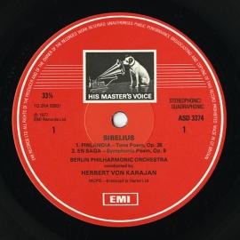 GB EMI ASD3374 ヘルベルト・フォン・カラヤン シベリウ…