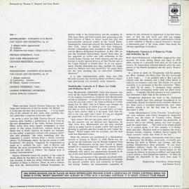 GB CBS 72768 ピンカス・ズーカーマン メンデルスゾーン&…