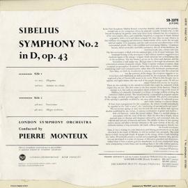 GB RCA SB-2070 ピエール・モントゥー シベリウス・交響…