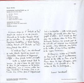 FR VSM C069-10595 シャルル・ミュンシュ ベルリオー…