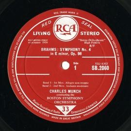 GB RCA SB-2060 シャルル・ミュンシュ ブラームス・交響…