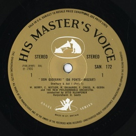 GB EMI SAN172-5 オットー・クレンペラー モーツァルト…
