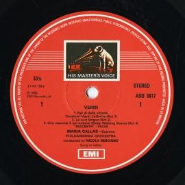 GB EMI ASD3817 マリア・カラス ヴェルディ・オペラ・ア…