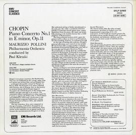 GB EMI SXLP 30160 ポリーニ ショパン・ピアノ協奏曲…