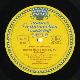 DE DGG SLPM138 659 ムラヴィンスキー チャイコフス…