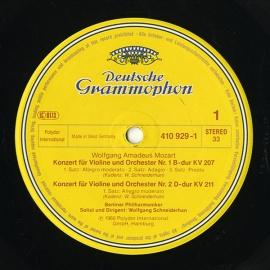 DE DGG 410 928-1 ヴォルフガング・シュナイダーハン …