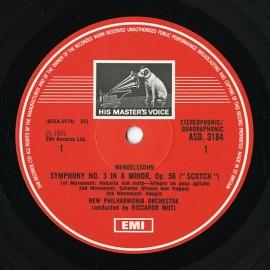 GB EMI ASD3184 リッカルド・ムーティ メンデルスゾーン…