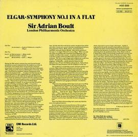 GB EMI ASD3330 エイドリアン・ボールト エルガー・交響…