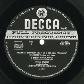 GB DEC SXL6227 ケルテス ブルックナー・交響曲4番「ロ…