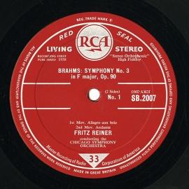 GB RCA SB-2007 フリッツ・ライナー ブラームス・交響曲…